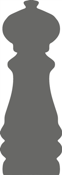 Pepper Shaker Unfinished Cutout, Wooden Shape,  Paintable MDF DIY Craft