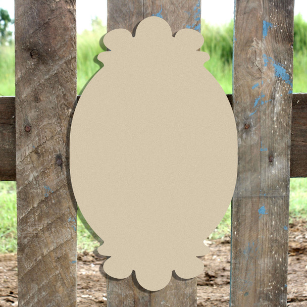Unfinished Wooden Charlie Plaque Paint-able Craft Shape