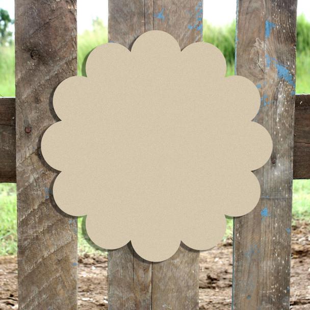 Unfinished Wooden Flower Plaque Paintable Craft Shape