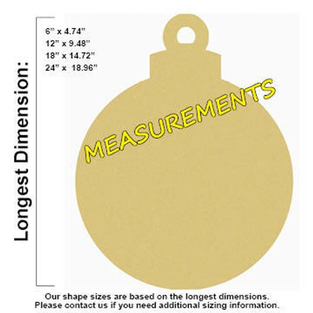 Ornament Shape Unfinished Paintable Wooden measurements
