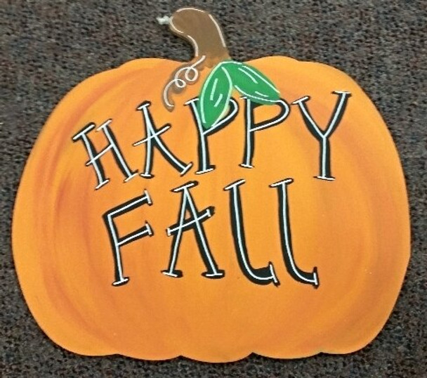 Pumpkin Unfinished Cutout Paintable Wooden MDF-Happy fall