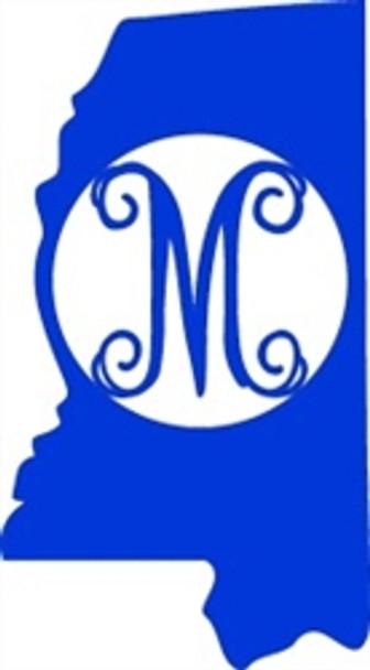 Mississippi Frame Letter Monogram Wooden Unfinished DIY Craft