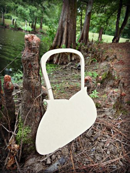 Purse Unfinished Cutout, Wooden Shape, Paintable Wooden MDF DIY Craft