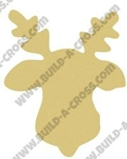 Reindeer Unfinished Cutout Paintable Wooden MDF build-a-cross