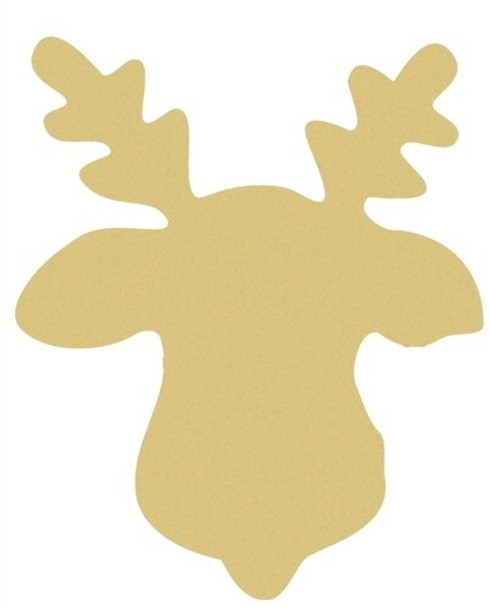 Reindeer Unfinished Cutout Paintable MDF