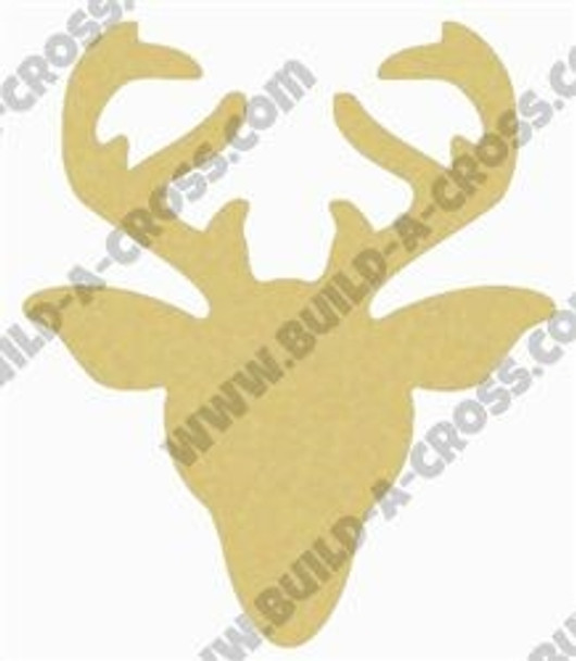 Wooden Reindeer Head Unfinished Cutout, Wooden Shape, Paintable Wooden MDF