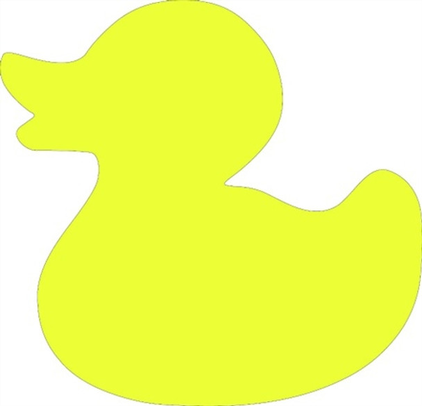 Rubberduck Unfinished Cutout, Wooden Shape,  Paintable MDF DIY Craft