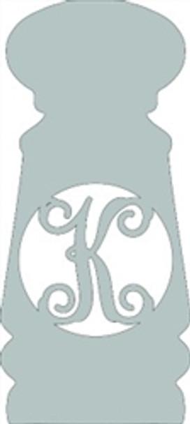 Monogram Letter, Salt Shaker Frame Wooden - Unfinished  DIY Craft