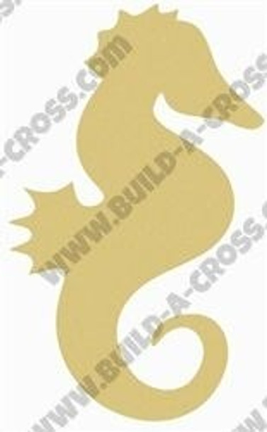 Seahorse Unfinished Wooden Cutout Paintable Wooden MDF build-a-cross