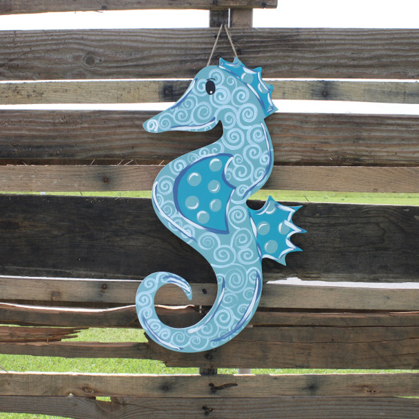 Seahorse Unfinished Cutout, Wooden Shape, Paintable Wooden MDF