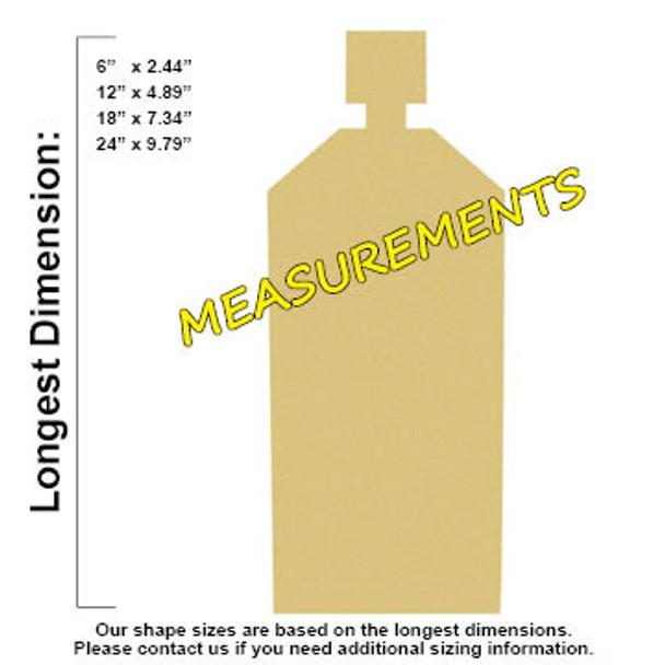 Shampoo Bottle Unfinished Cutout, Wooden Shape, Paintable Wooden MDF