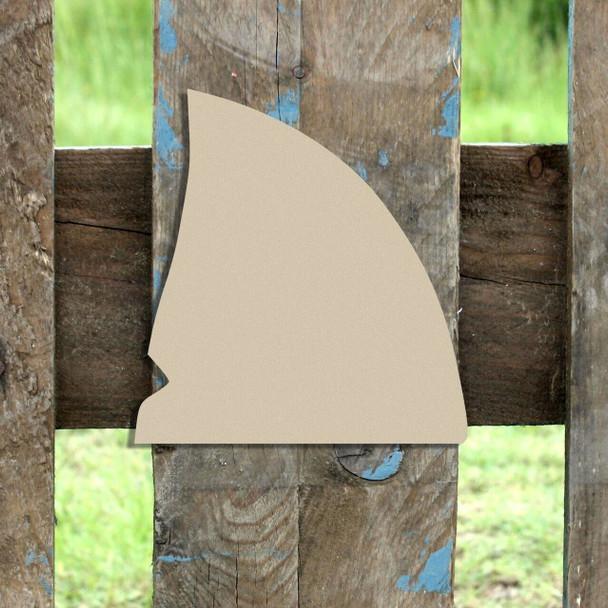 Shark Fin Unfinished Cutout