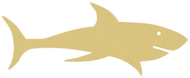 Shark Unfinished Cutout Paintable Wooden MDF