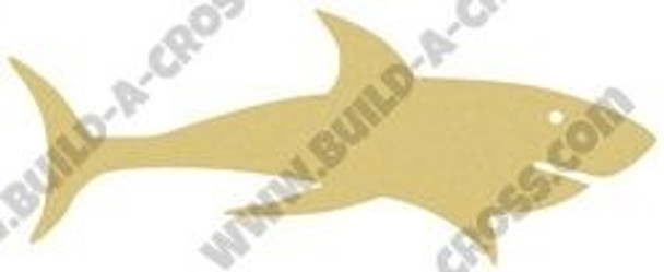 Shark Unfinished Cutout Paintable Wooden MDF build-a-cross