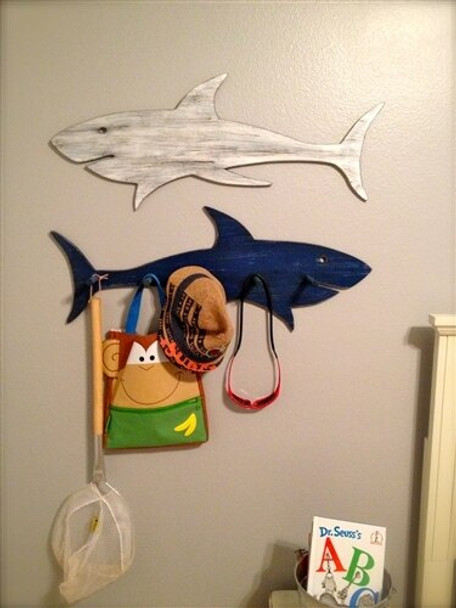 Shark Unfinished Cutout Paintable Wooden