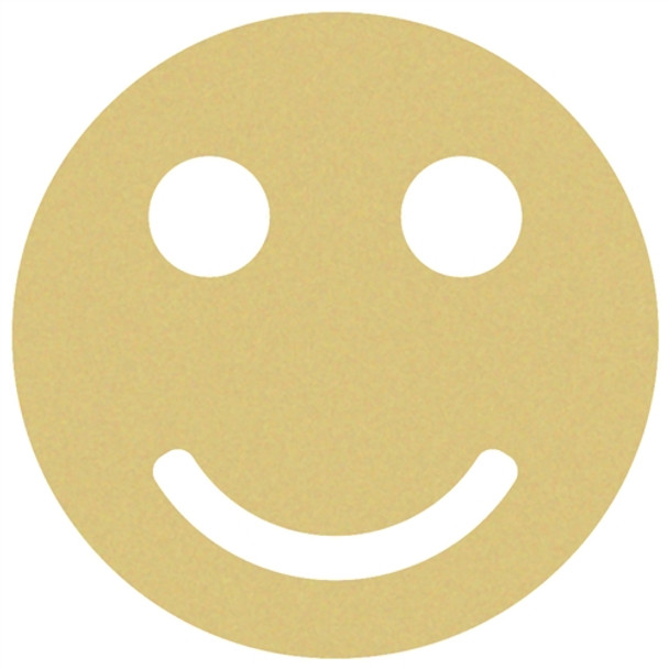 Smiley Face Unfinished Cutout, Wooden Back to School Shape, Paintable Wooden MDF