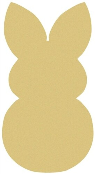 Snow Bunny Unfinished Cutout Paintable Wooden MDF