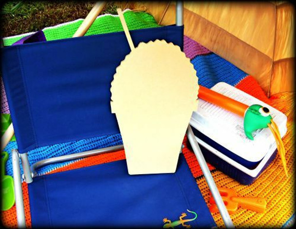 Snowcone Unfinished Cutout Paintable Wooden MDF
