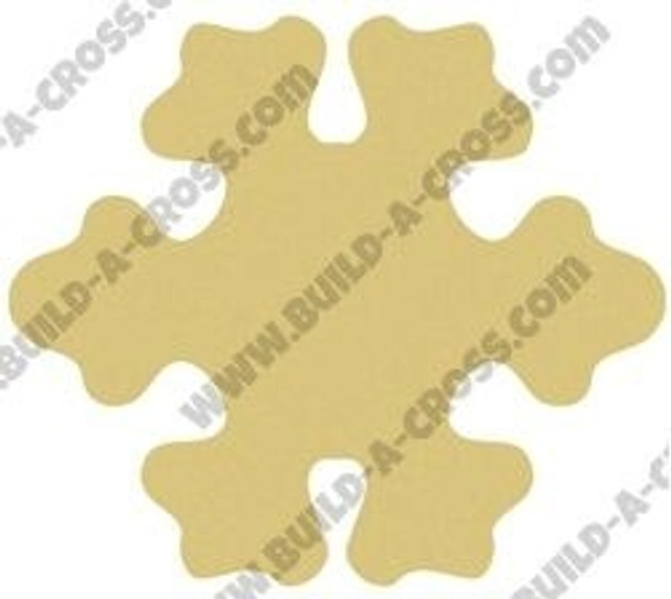 Snowflake Cutouts Unfinished Paintable Wooden build-a-cross