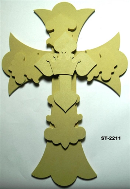 Unfinished Wooden Stacked Kit 11 Layered Crosses 22'' Sets Paintable
