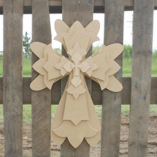 Unfinished Wooden Stacked Kit 1 Layered Crosses 22'' Sets Paintable