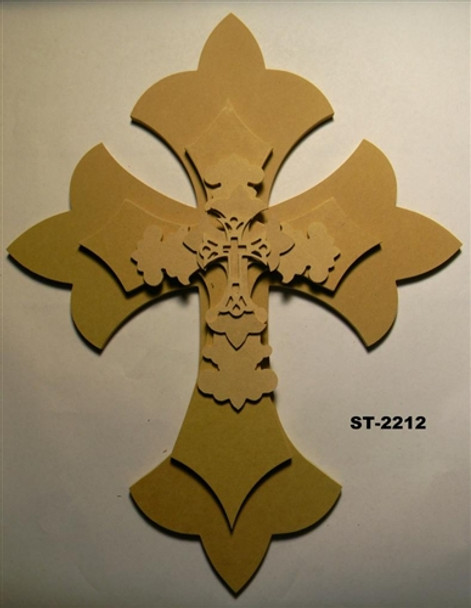 Unfinished Wooden Stacked Kit 12 Layered Crosses 22'' Sets Paintable