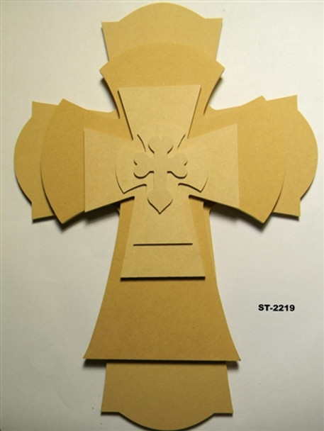 Unfinished Wooden Stacked Kit 19 Layered Crosses 22'' Sets Paintable