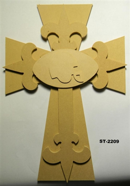 Unfinished Wooden Stacked Kit 9 Layered Crosses 22'' Sets Paintable