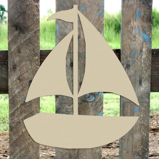 Sailboat Unfinished Cutout