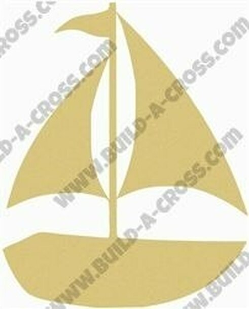 Sailboat Unfinished Cutout build-a-cross