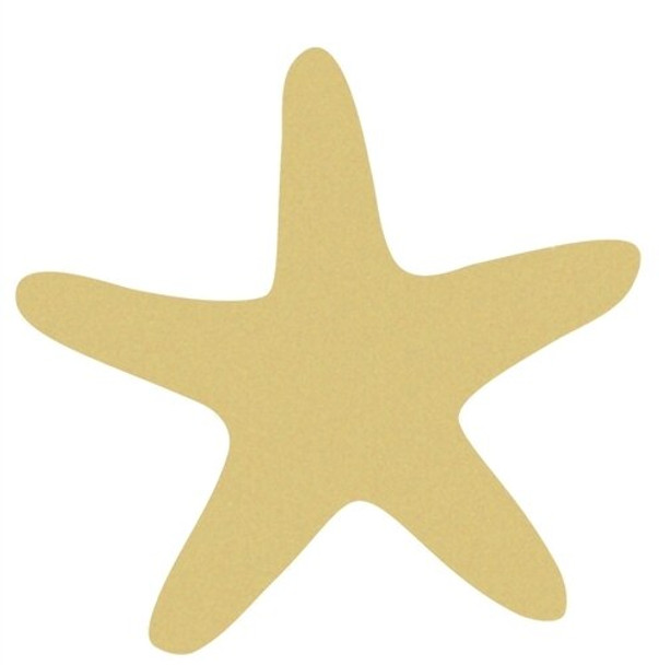 Star Fish Unfinished Cutout Paintable Wooden MDF