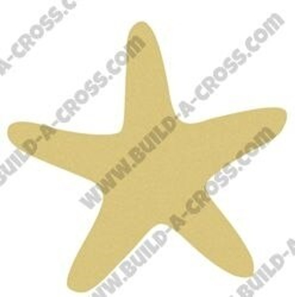 Star Fish Unfinished Cutout Paintable Wooden MDF build-a-cross