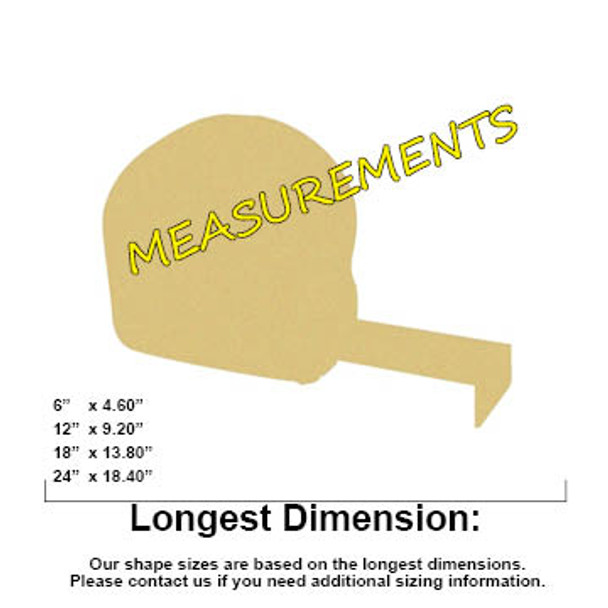 Tape Measure Unfinished Cutout, Wooden Shape, MDF DIY Craft