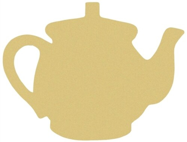 Teapot Unfinished Cutout Paintable Wooden MDF 1