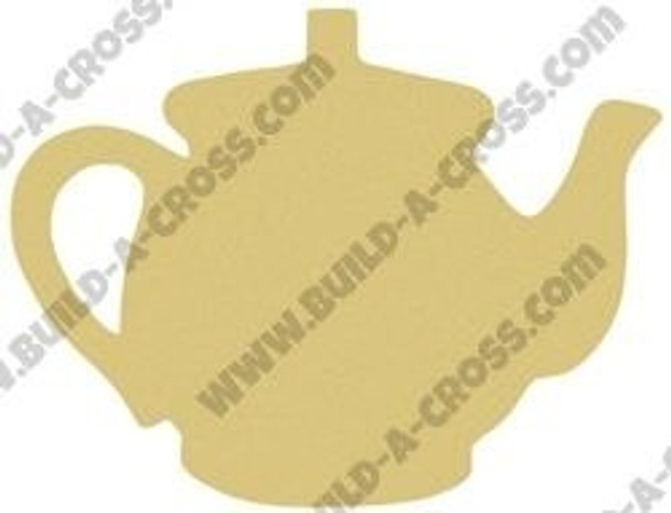 Teapot Unfinished Cutout Paintable Wooden MDF build-a-cross