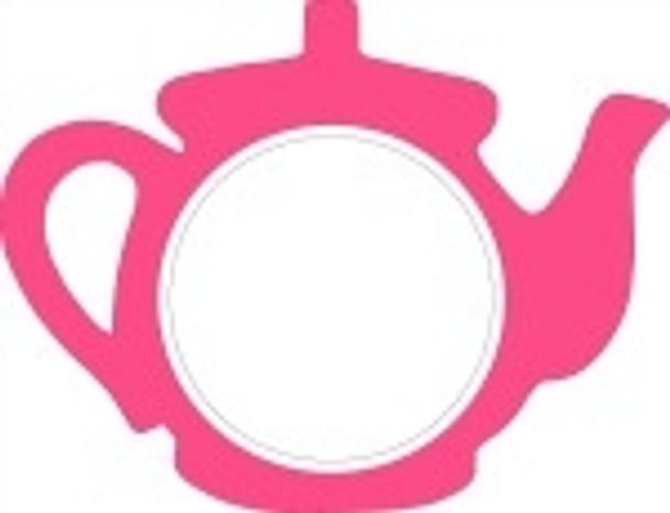 Tea Pot Frame Letter Insert Wooden Monogram Unfinished DIY Craft