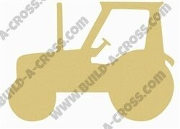 Tractor Unfinished Cutout Paintable Wooden MDF build-a-cross