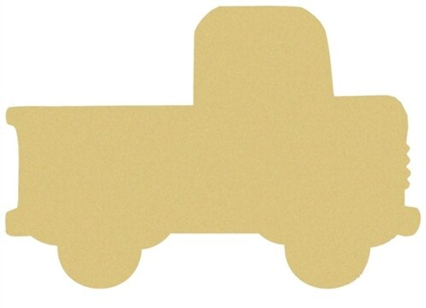 Truck Unfinished Cutout Paintable Wooden MDF