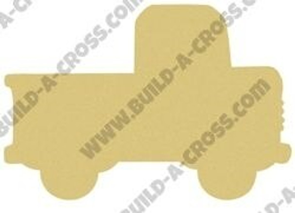 Truck Unfinished Cutout Paintable Wooden MDF build-a-cross