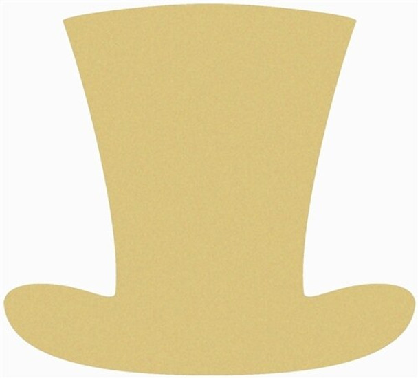 Top Hat Unfinished Cutout