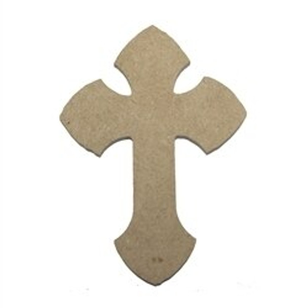 Cross 1 Unfinished Wooden Paintable Wall Hanging