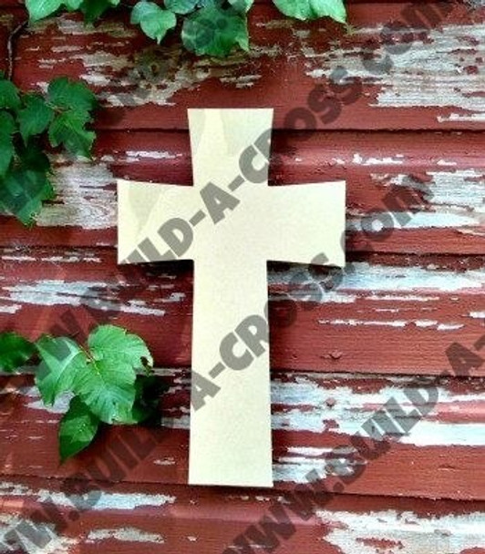 Cross 10 Unfinished Wooden Paintable build-a-cross