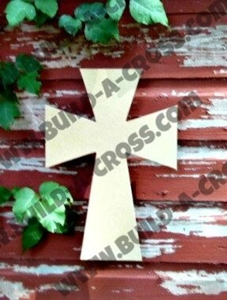 Cross 13 Unfinished Wooden Paintable Wall build-a-cross