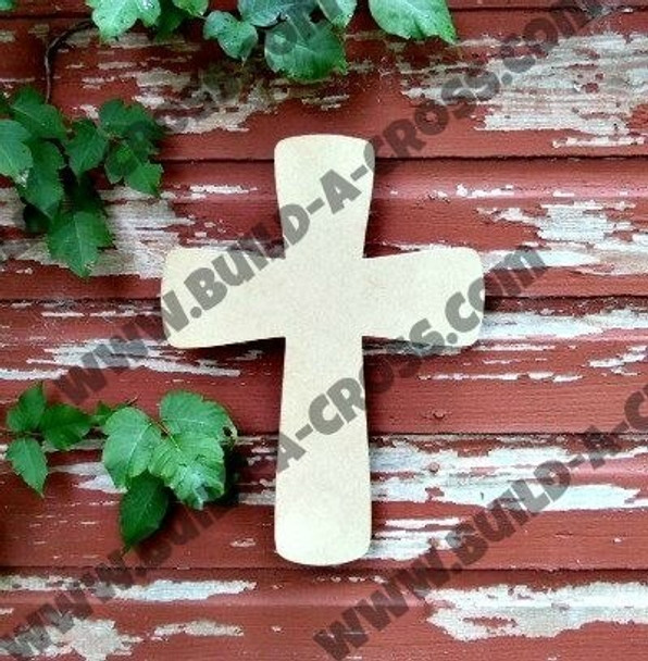 Cross 16 Unfinished Wooden Paintable Wall build-a-cross
