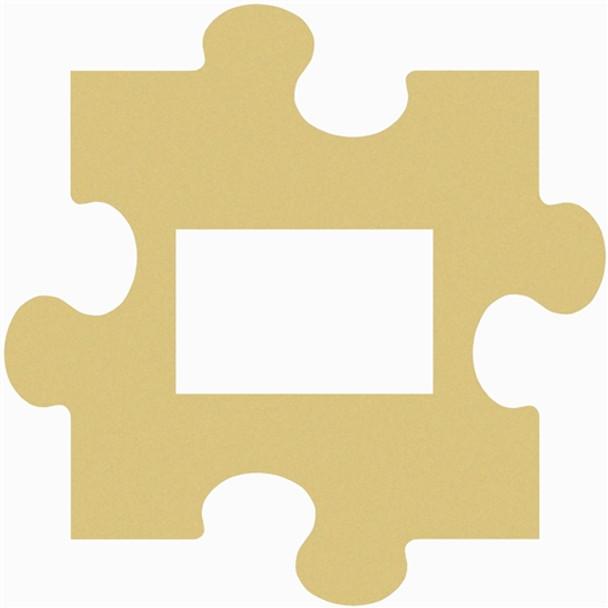 Puzzle Piece Wall Decor Picture Unfinished Frames Paint-able Cutout