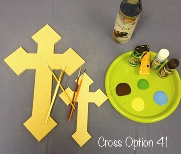 UNFINISHED PAINTABLE WALL HANGING STACKABLE CROSS