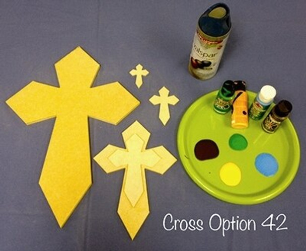 UNFINISHED WOODEN CROSS PAINTABLE WALL HANGING CROSS