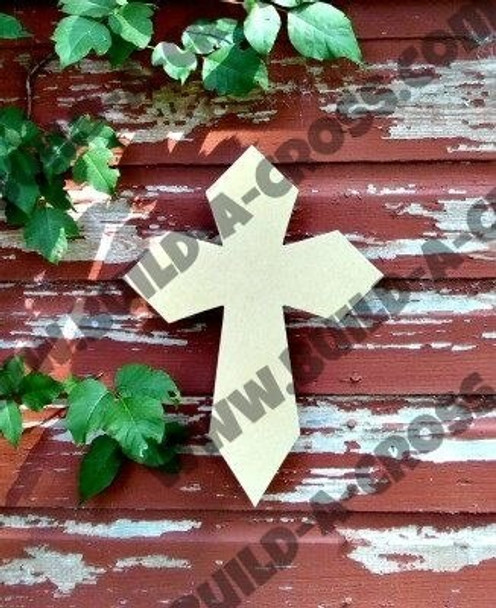 UNFINISHED WOODEN CROSS PAINTABLE WALL HANGING CROSS build-a-cross