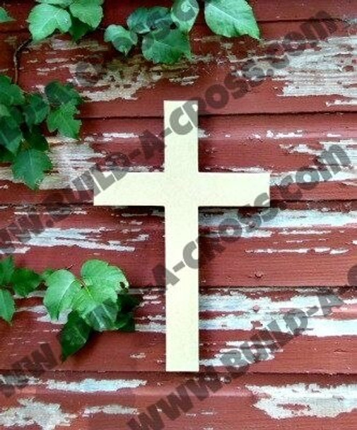 UNFINISHED WOODEN CROSS build-a-cross