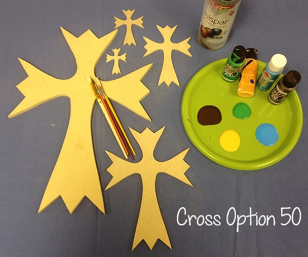 UNFINISHED WOODEN CROSS Paint-able WALL HANGING STACKABLE CROSS(50)
